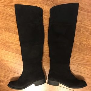 American Eagle Payless Over Knee Black Boots